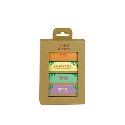 4-Pack Kapseln für Lilo, Ihr Heimgarten - Melisse - Marokkanische Minze - Zitronen-Basilikum - Salbei - Prêt à Pousser