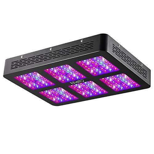 Niello® 900W Optical Lense Series LED Pflanzenlampe Dual LED Grow Light Vollspektrum Wachsen mit 2 Schalter für Zimmerpflanzen Gemüse und Blumen