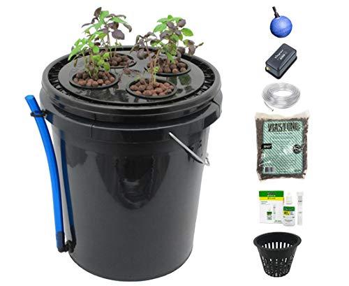 Viagrow 4-site Hydrokultur Deep Water Kultur Vegetative System, schwarz