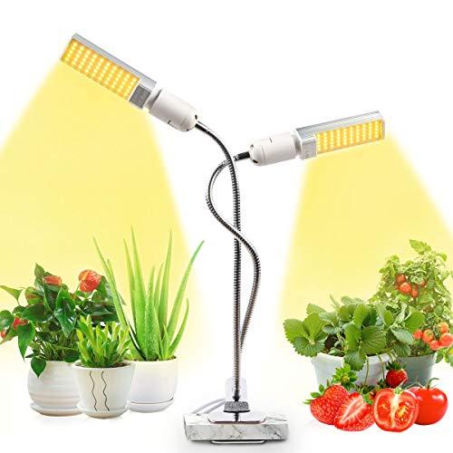 JEVDES Pflanzenlampe für Zimmerpflanzen, 50W Grow Light, LED Pflanzenlichter, Sonnenähnliche Vollspektrum Wachstumslicht, für Sämlinge, die Blühendes Obst Wachsen