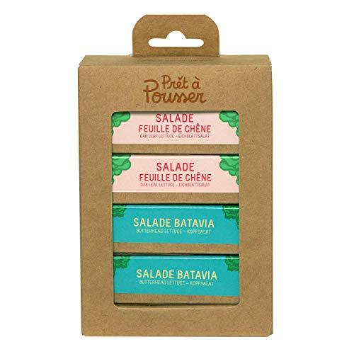 Prêt à Pousser Kombiset Salate - 2X Bataviasalat - 2XEichblattsalat - 4 Kapseln für Ihren Indoor-Garten Lilo oder Modulo