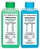 Measury pH Kalibrierlösung 6.86 und 9.18, pH Pufferlösung je 250ml, Eichlösung Grün/Blau, Kalibrierflüssigkeit Set Eichflüssigkeit