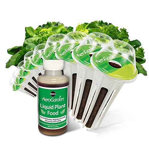 AeroGrow 809604-0201 Heirloom Salad Greens 9Pod, Mehrfarbig, 12,7 x 5,08 x 20,32 cm