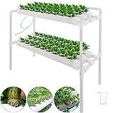 Kacsoo Hydroponic Grow Kit Hydroponisches System Früchte PVC Hydroponic Pipe Home für Hydroponische, Erdlose Pflanzenanbau-Systeme (Hydroponic Grow Kit 72 Löcher 8 Rohre, 2 Schichten)