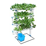 CRZJ Hydroponic Grow Kit, Hydroponisches System 88 Pflanzenstandorte, PVC-Wasserkultur-Gartenpflanzensystem und Hydroponisches Experiment, 8 Rohre