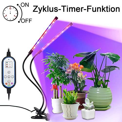 Pflanzenlicht 18W 36LED, Lovebay - Neueste Version - Automatische Zeitschaltuhr LED VOLLSPEKTRUM