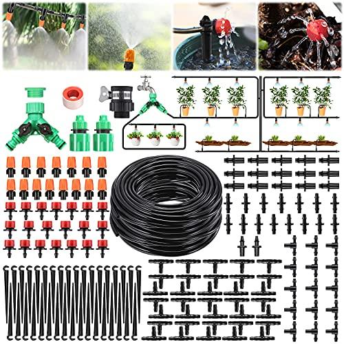 Pathonor Neue DIY Bewässerungssystem 40m, Bewässerung Kit Micro-Drip-System Garten automatische Bewässerung automatische Sprinkler Tröpfchenbewässerung Gartenbewässerung